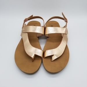 Rouge helium Rose Gold sandals